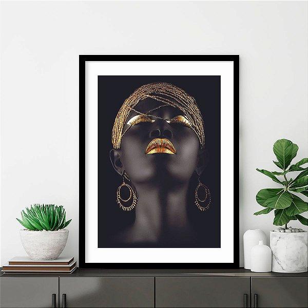 Quadro Mulher Negra Faces Hadiya