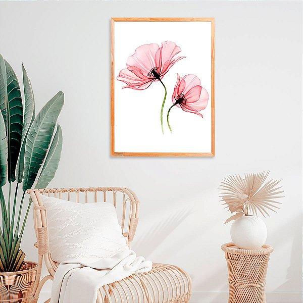 Quadro Decorativo Floral Aquarela