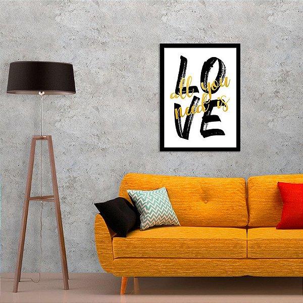 Quadro Decorativo All is Love