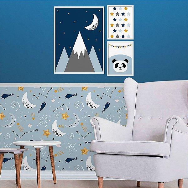 Kit Quadro Decorativo Montanhas Cute