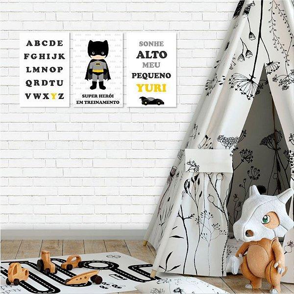 Kit de Placas Decorativas Batman