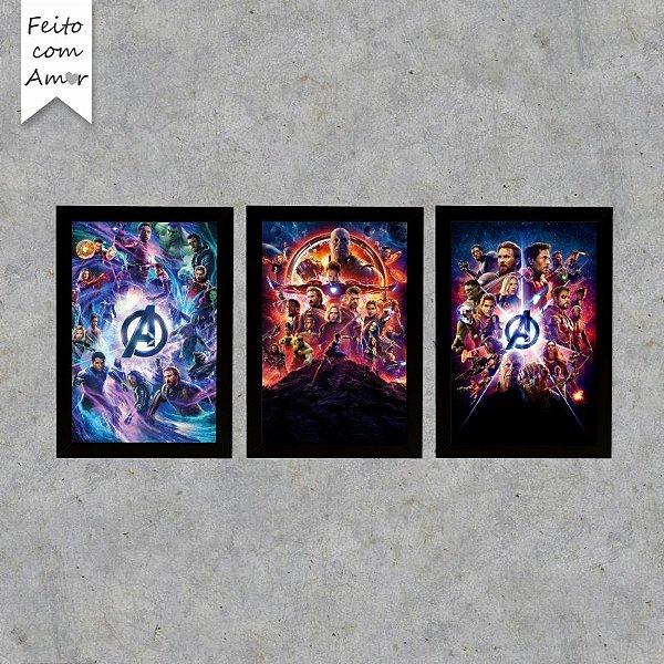 Kit Placas Decorativas Vingadores