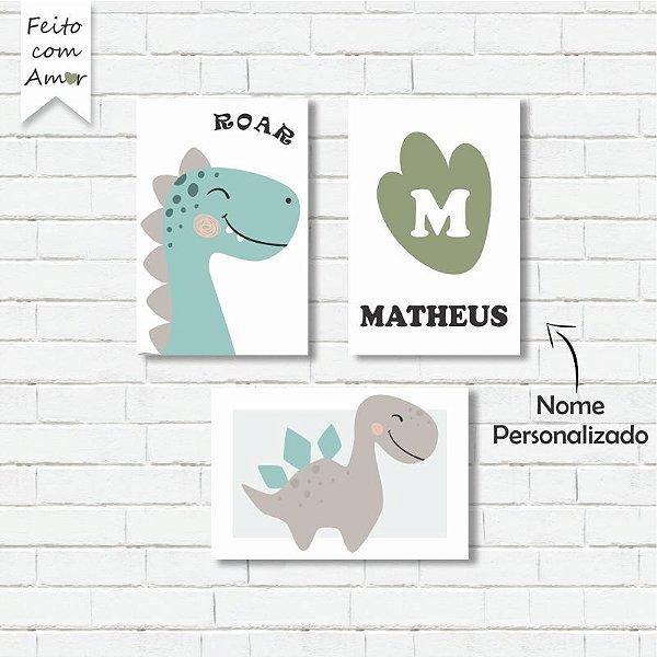 kit de Placas Decorativa Dinossauros
