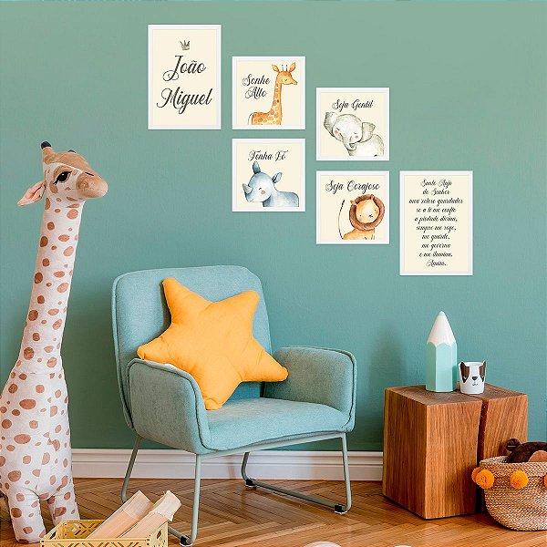 Kit de Placas Decorativas Safari Baby