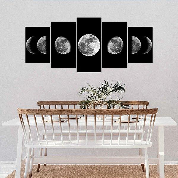 Quadro Decorativo Mosaico Fases da Lua