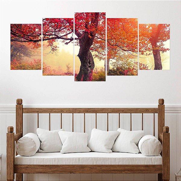 Quadro Decorativo Mosaico Outono