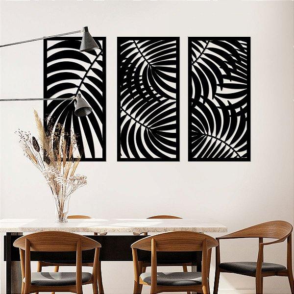 Quadro Decorativo 3D Folhagens Tropical