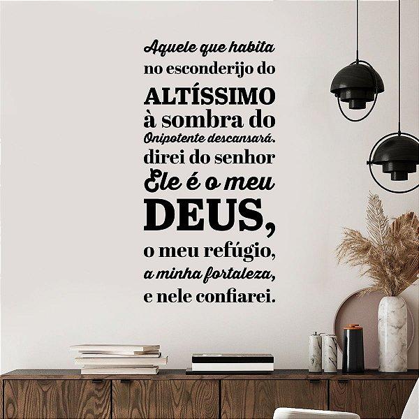Adesivo Decorativo Salmos 91:1-9 ARC