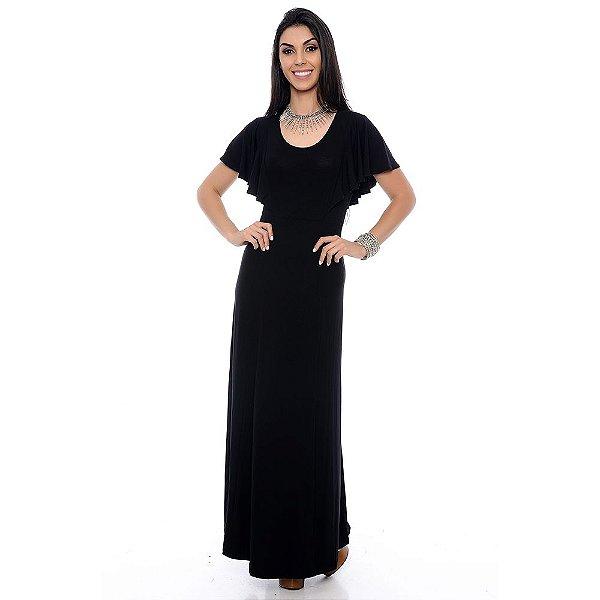 Vestido Longo B'Bonnie Adriely Preto