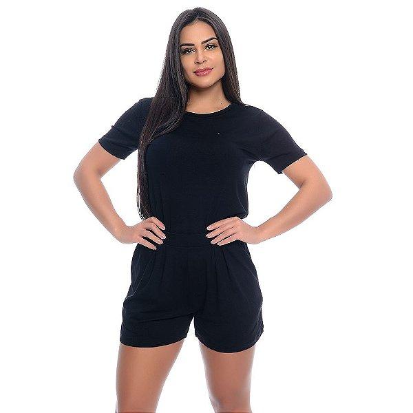 Conjunto Shorts e Baby Look B'Bonnie Preto