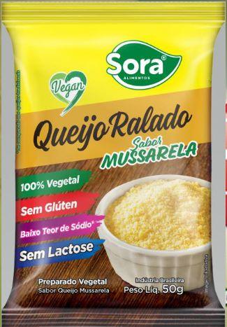 QUEIJO RALADO SABOR MUSSARELA 50G - SORA