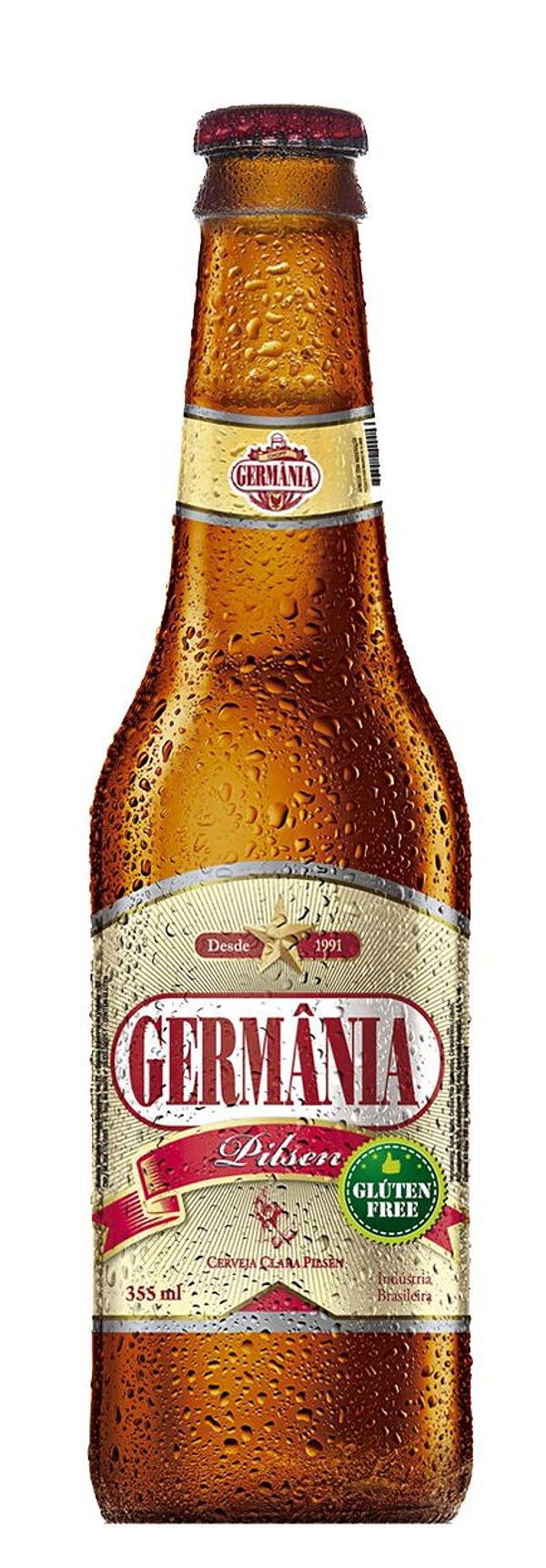CERVEJA PILSEN S/ GLUTEN GERMANIA CAIXA 24 X 355 ml