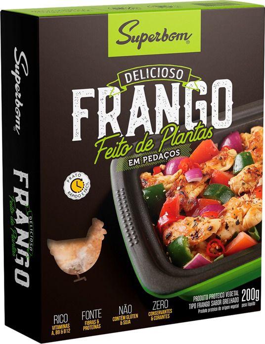 FRANGO VEGANO EM PEDACOS 200g - SUPERBOM
