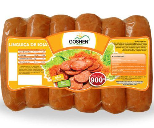 LINGUIÇA DE SOJA 900G - GOSHEN