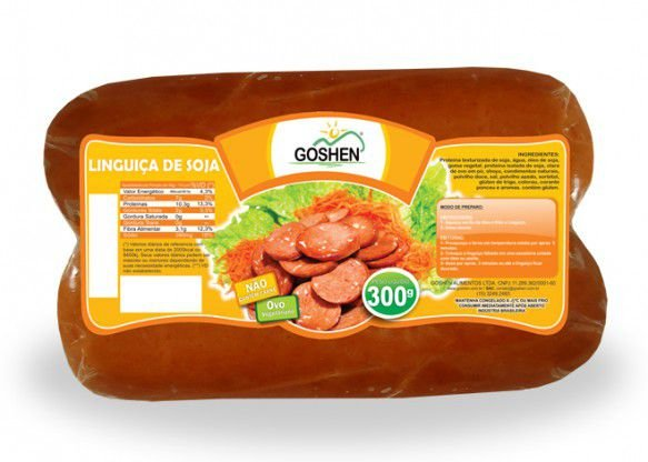 LINGUIÇA DE SOJA 300G - GOSHEN