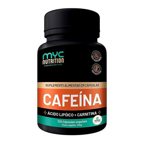Cafeína 200mg Com Carnitina 120 Cápsulas Vegetais - Myc Nutrition