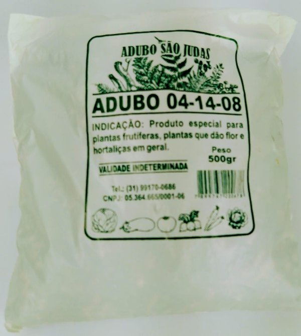ADUBO FERTILIZANTE  PARA PLANTAS  4-14-08