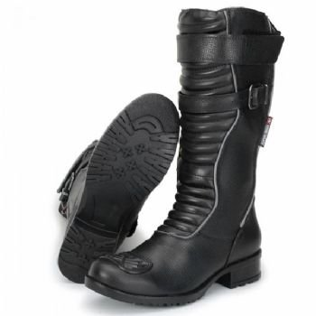 Bota Motociclista Atron Shoes Refletivo Feminino Cano Longo