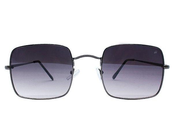 Óculos de Sol Ferrovia com Armação de Metal Quadrado