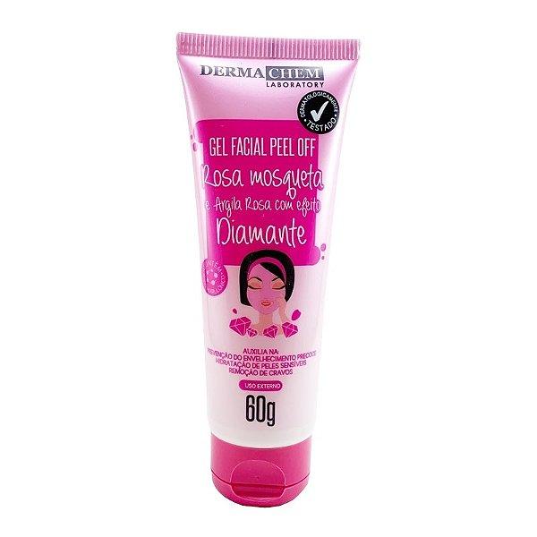 Máscara Facial Peel Rosa Mosqueta e Argila Rosa c/ Efeito Diamante, Dermachem