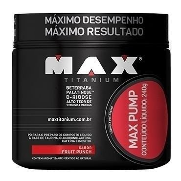 Pré Treino Max Pump 240g - Max Titanium