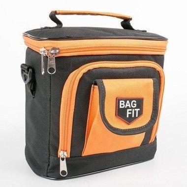 Bolsa Térmica Bag Fit Mini Preto com Laranja - Bag Fit