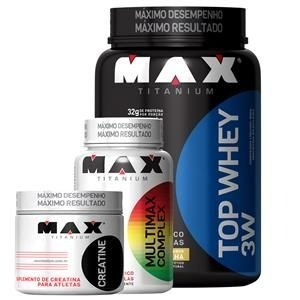 Kit Top Whey 3W 900g - Max Titanium