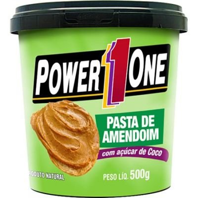 Pasta de Amendoim com Açúcar de Coco 500g - Power1One