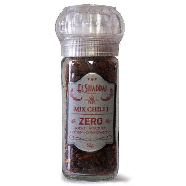 Tempero Mix Chilli zero 52g Com Moedor Reutilizável - El Shaddai