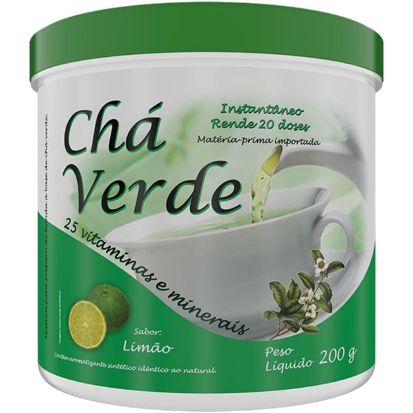 Chá Verde 25 Vitaminas 200g - New Millen