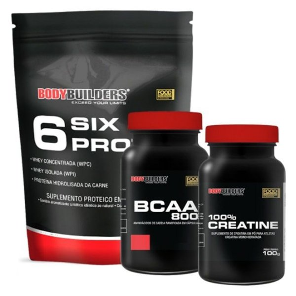 Kit 6 Six Protein 900g - BodyBuilders
