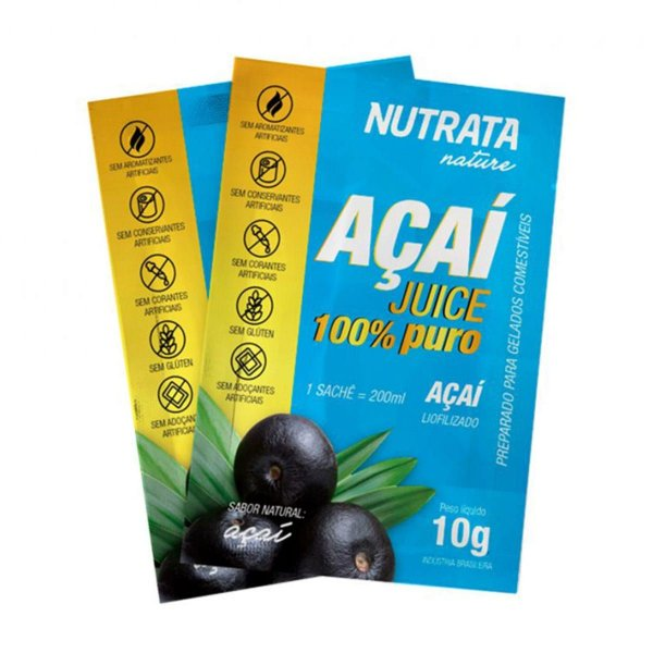 Açaí Juice 10g Display com 20 Sachês - Nutrata