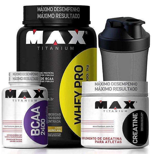 Kit Whey PRO 1kg Max Titanium