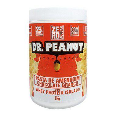 Pasta de Amendoim Chocolate Branco com Whey 1Kg - Dr. Peanut
