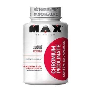 Chromium Picolinate Picolinato de Cromo - 60 Cápsulas - Max Titanium