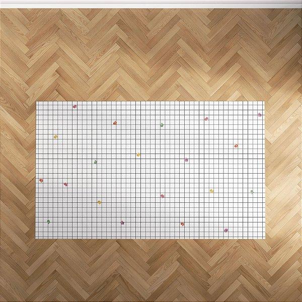 Playmat Grid Passarinhos Retangular