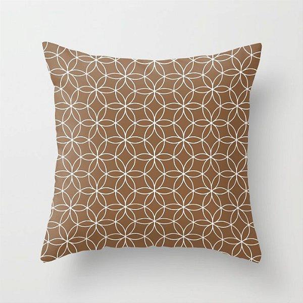 Capa de almofada Lotus Marrom Chocolate
