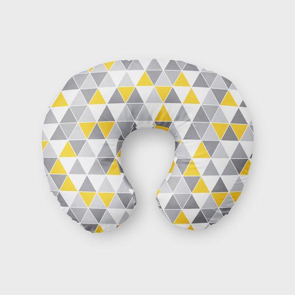 Almofada de amamentação Tri Cinza e Amarelo
