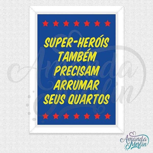 Quadro Super-Heróis 1