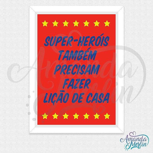 Quadro Super-Heróis 2