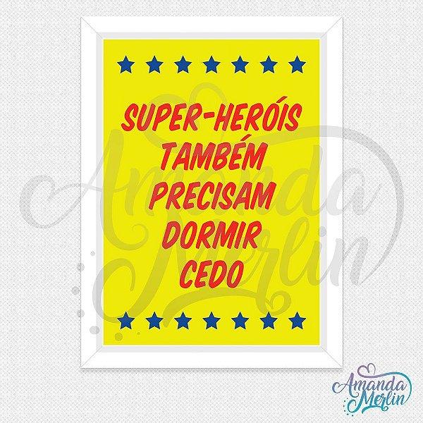 Quadro Super-Heróis 3