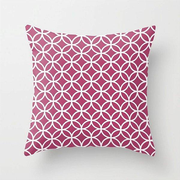 Capa de almofada Circles Rosa Escuro