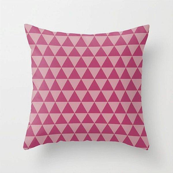 Capa de almofada Triângulo Rosa Escuro