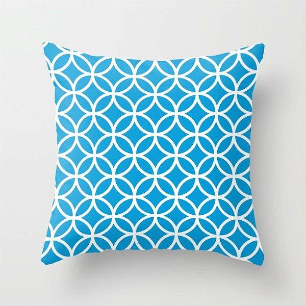 Capa de almofada Circles Azul Céu