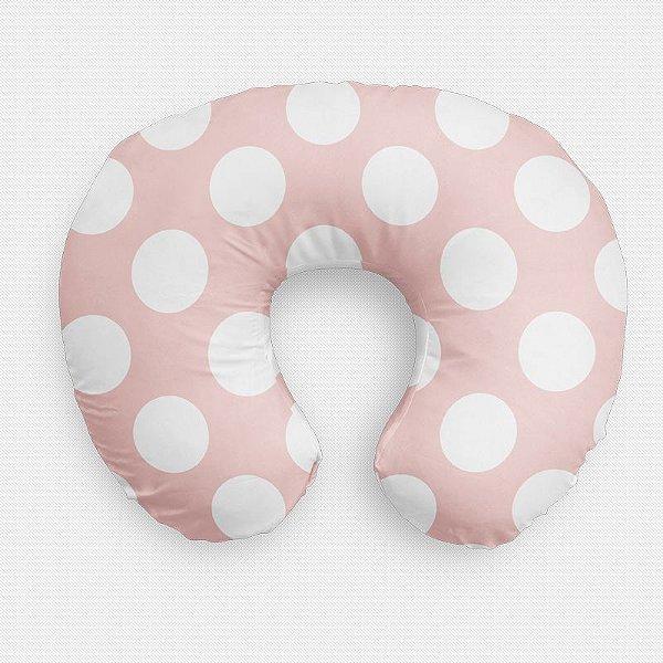 Almofada de amamentação Rosa Quartzo com Bolas