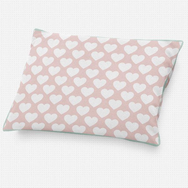Almofada de cabeceira Corações Rosa Quartzo