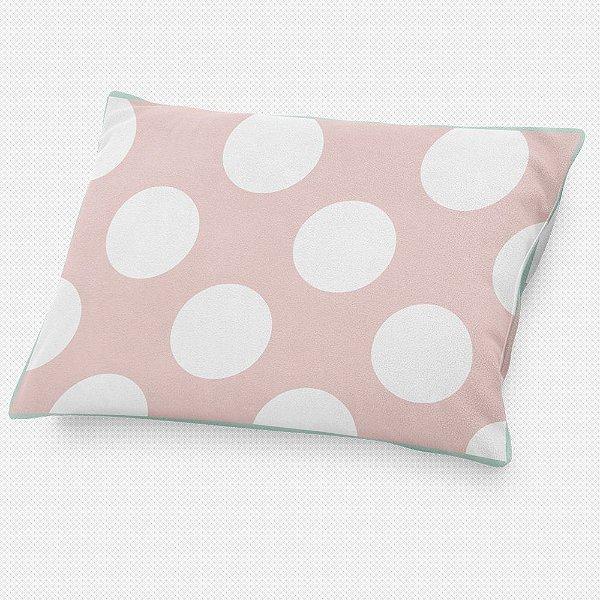 Almofada de cabeceira Rosa Quartzo com Bolas