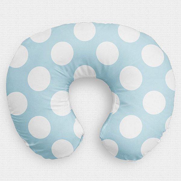 Almofada de amamentação Azul Bebê com Bolas