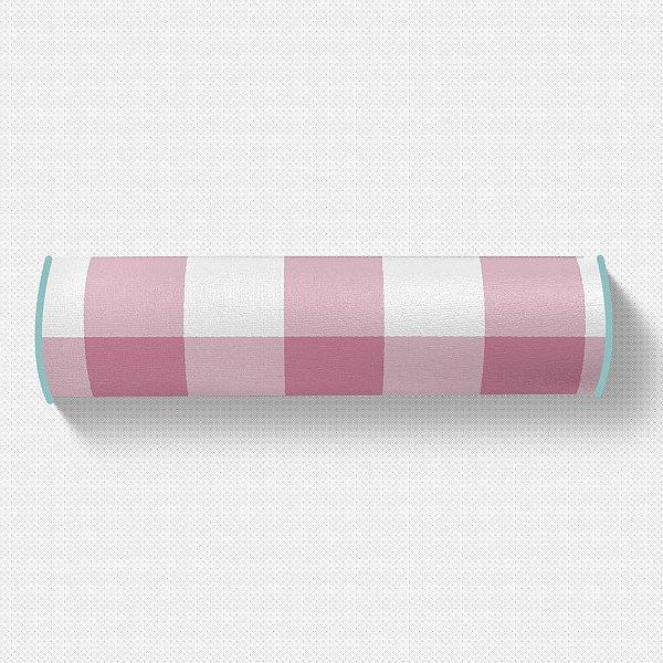 Rolo peseira Xadrez Rosa Chiclete