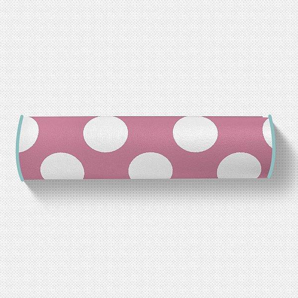 Rolo peseira Rosa Chiclete com bolas